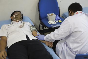 Kegiatan Donor Darah di Lingkungan Kantor Walikota Administrasi Jakarta Utara