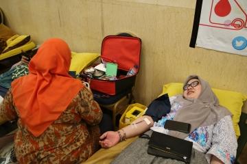 Kegiatan Donor Darah di Lingkungan Balaikota Tahun 2019