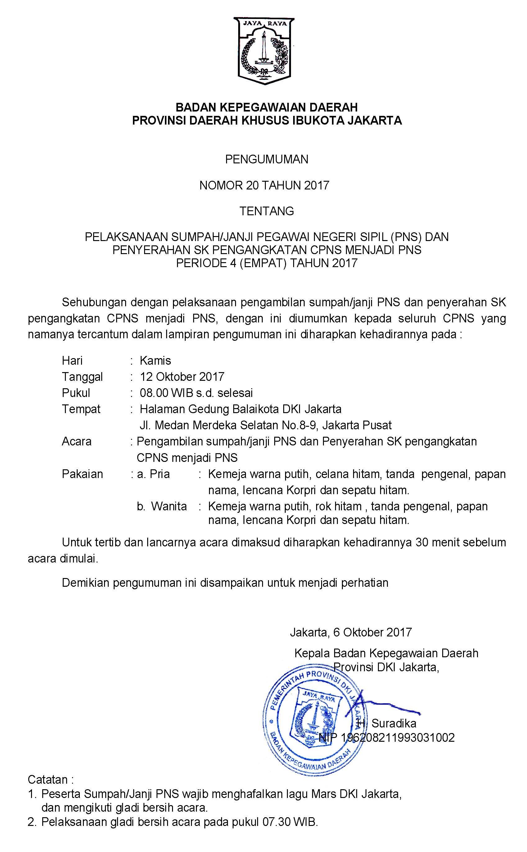 Pelaksanaan Sumpah Janji Pegawai Negeri Sipil PNS Dan Penyerahan